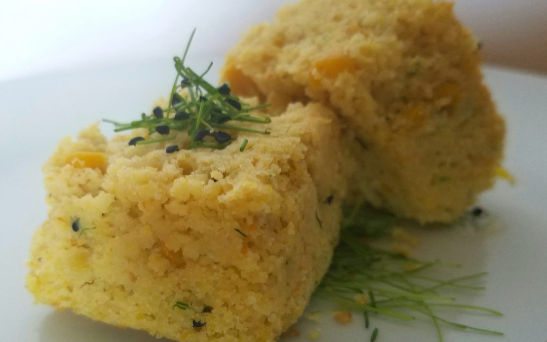 Gluten-Free Leek Infused Corn Bread
