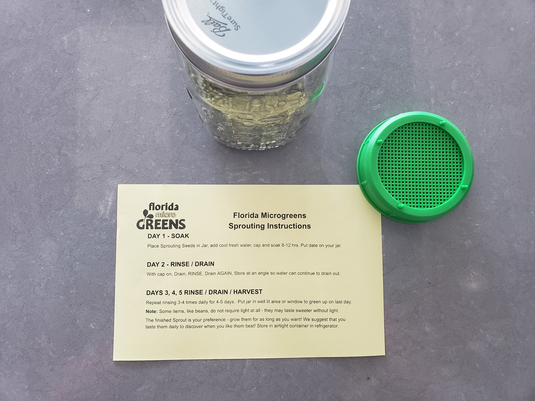 florida-microgreens-sprouting-jar-and-instructions